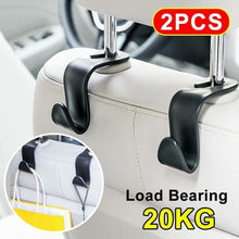 Load image into Gallery viewer, 2Pcs Car Seat Hook Auto Headrest Hanger Bag Holder for Car Bag Purse Cloth Grocery Storage Auto Fastener Accessries