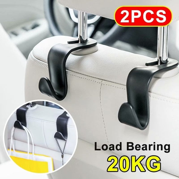 2Pcs Car Seat Hook Auto Headrest Hanger Bag Holder for Car Bag Purse Cloth Grocery Storage Auto Fastener Accessries