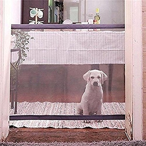 Saftey Pet Gate - Magic Gate Pet safety Enclosure Portable Folding Pet Isolation Net Safety Guard For Pets Dog Cat 2 Size