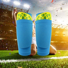 Load image into Gallery viewer, 1 Pair Soccer Football Shin Pad Holder Support Leg Sleeve Shin Gaurd Protector Socks