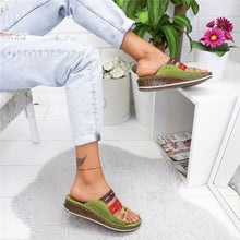 Load image into Gallery viewer, New Fashion Women Summer Slippers Low Heels Sandals Open Toe Outdoor Slippers Slides Gladiator Wedge Slippers