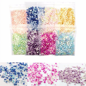 500pcs Beads Slime Supplies DIY Glitter Pearls Slime Filler Fluffy Decoration Gradient Slime Accessories