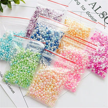 Load image into Gallery viewer, 500pcs Beads Slime Supplies DIY Glitter Pearls Slime Filler Fluffy Decoration Gradient Slime Accessories