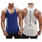 Gym Men Muscle Sleeveless Tank Top Tee Shirt Sport Vest