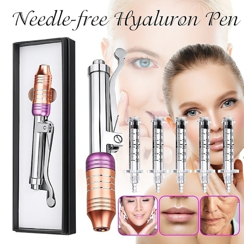 Professional Noninvasive Nebulizer Injection Pen Hylauronic Acid Micro Injector Hyaluron Pen Gun Non Invasive Wrinkle Removal Water Syringe Injection Atomize with Two Colors