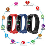 M3 Smart Bracelet Color Screen Blood Pressure Waterproof Fitness Tracker Watch Heart Rate Monitor Smart Band for Android IOS