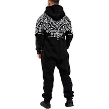 Load image into Gallery viewer, Men's Warm Fluffy Sleep Casual Christmas Pajamas One-piece Pajamas Men's Jumpsuit Hooded Jumpsuit Pajamas Tracksuit