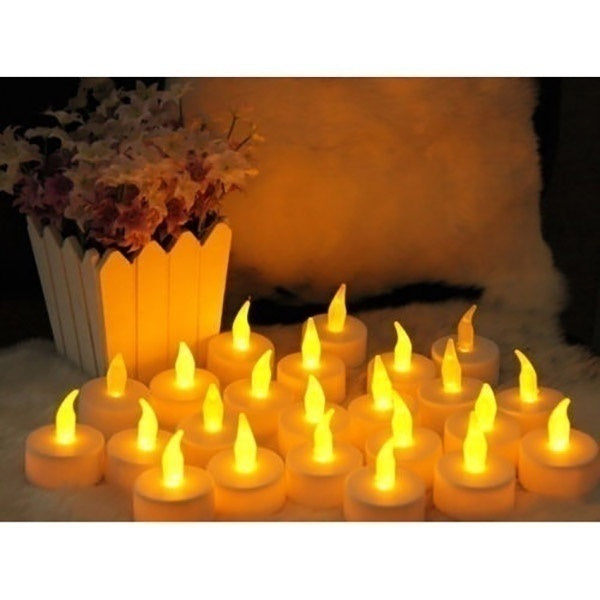 12pcs/24pcs/48pcs  Flameless LED Tealight Tea Candles Wedding Light Romantic Candles Lights