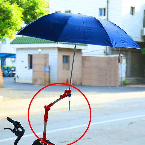 Adjustable Any Angle Bike Wheelchair Stroller Chair Umbrella Holder Connector Stand Supporter Stainless Steel Multiused Stands