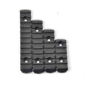 4Pcs Tactical Polymer 20mm PicatinnyRail Adapter Section Set For M-Lok Handguard