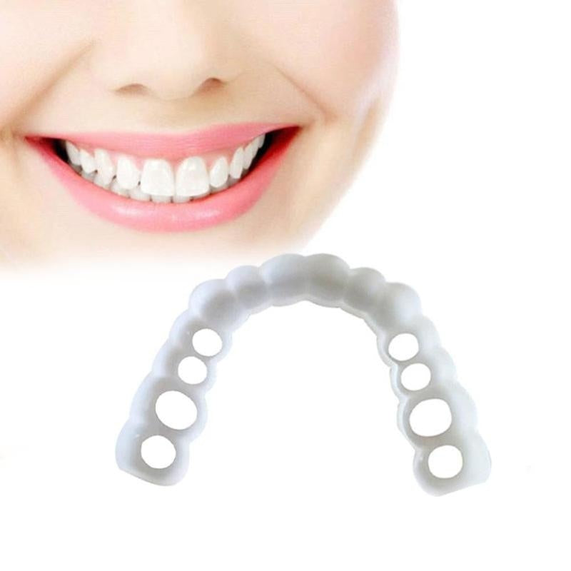 2Pcs New Reusable Whitening Dentures for Flexible Cosmetics Comfortable Retouching Dental Care Accessories