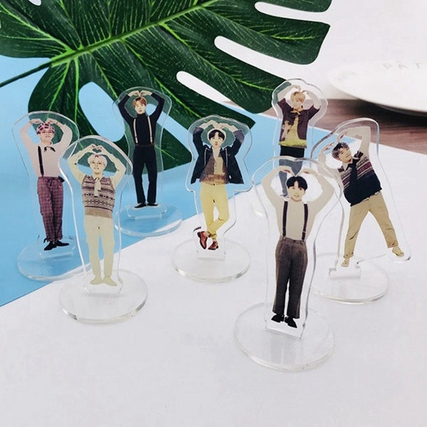 2019 New Bts Festa 5Th Muster Mini Acrylic Cute Transparent Stand Figure Doll Members Standing Action Model