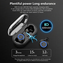 Load image into Gallery viewer, Bluetooth5.0 TWS Bluetooth Earphones Wireless Bluetooth Headphones Sport Waterproof Bluetooth Headset Touch Control Mini Earbuds with Power Bank Chaging Case 300mAh/600mAh