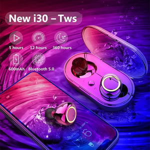 Bluetooth5.0 TWS Bluetooth Earphones Wireless Bluetooth Headphones Sport Waterproof Bluetooth Headset Touch Control Mini Earbuds with Power Bank Chaging Case 300mAh/600mAh