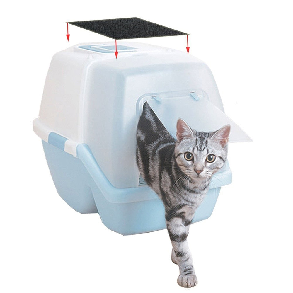 4pcs Portable Cat Litter Box Litter Box Charcoal Filter for Home Filter Activated Carbon Deodorant Pad for Kitten