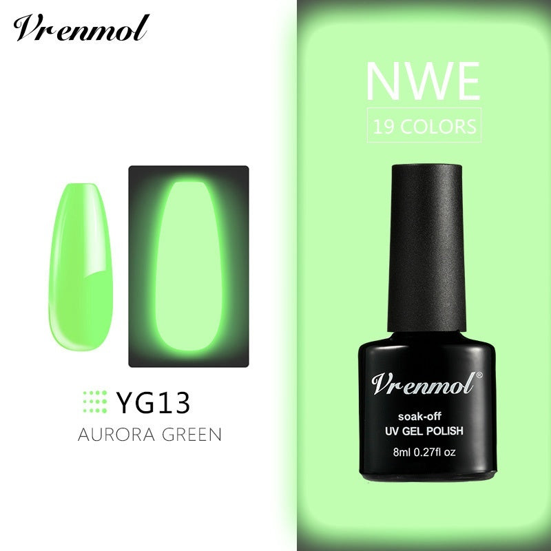 Vrenmol Luminous Nail Art Soak Off Semi Permanent Gel Change Dark In Night Gel Lacquer Glue 19 Colors Optional
