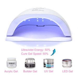 [ 300W , 36 LED ] Fast Drying UV Lights Nail Lamp Dryer Gel Polish Curing Machine with Nail Tools SUN X5 Plus