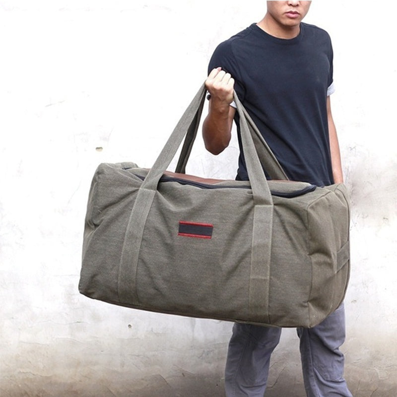 New Large Capacity Canvas Travel Luggage Bag Outdoor Travel Duffle Bag