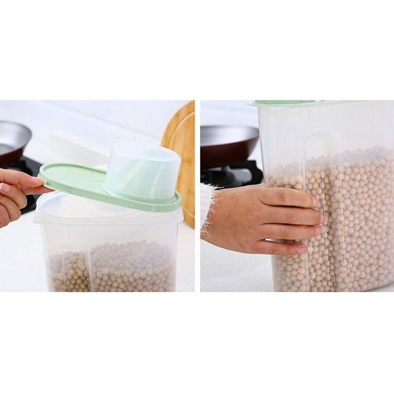 1.5Kg/2.5Kg Kitchen Foods Rice Pasta Container Storage Tank Dispenser Storage Box Holder Kitchen Box