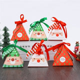 5/10/20pcs Candy Box Creative Xmas Gift Bags Kids Favors Party Supplies Christmas Decoration Paper Bags