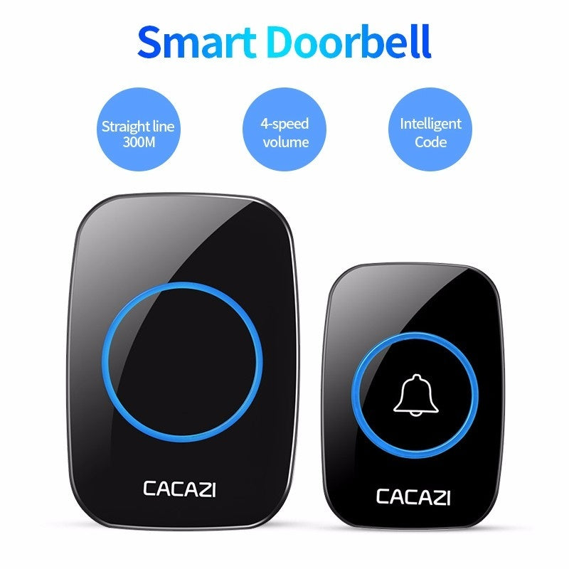 Waterproof Home Intelligent Door Bell Wireless Chime Music Door Bell 36 Tune Songs 300M Smart Remote Door Bell