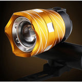 15000LM Free Zoom Waterproof T6 LED Bicycle Light Bike Front Lamp Torch Headlight with USB Rechargeable Cycling Light
