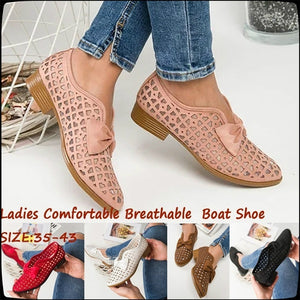 Women Flats Summer Fashion Casual Hollow Solid Pointed Toe Slip on Flat Shoes Comfortable Breathable Ladies Boat Shoes loafers shoes