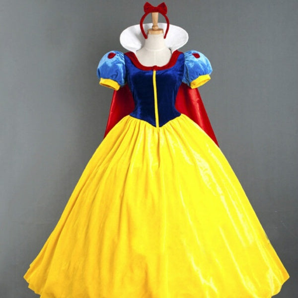 Halloween Adult Snow Princess Dress Stage Show Cosplay Costume