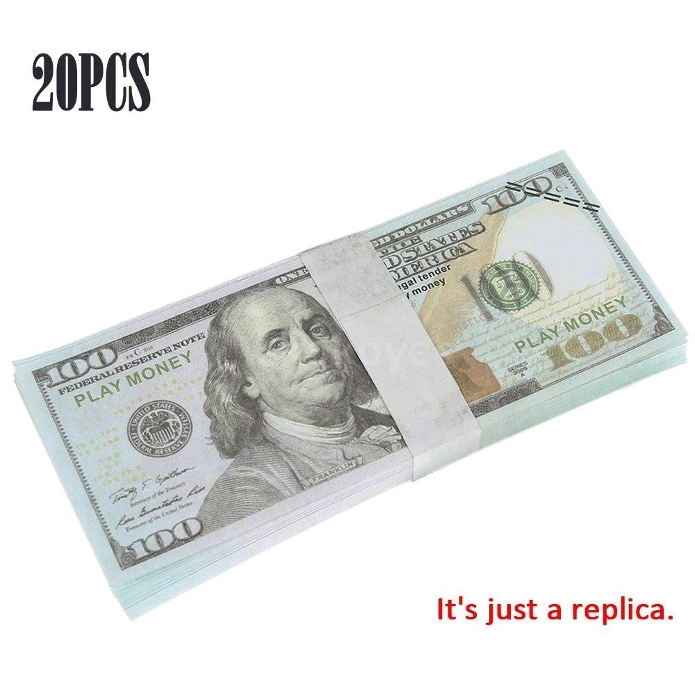 Replica Dollar Bill Souvenir Banknote Commemorative Banknotes Realistic Fake Play Money With U S Characteristics Real Looking Double-Sided Printing for Movie Advertising Novelty Magic Props 20/30/50100PCS