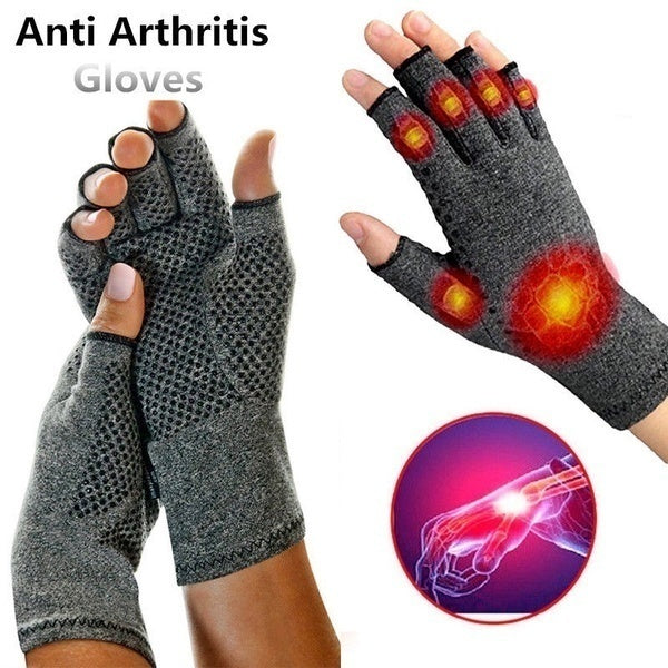 1 Pairs Health Rheumatoid Arthritis Gloves Touch Screen Gloves Anti Arthritis Therapy Compression Gloves and Ache Pain Joint Relief Grey Winter Warm S M L