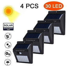 Load image into Gallery viewer, 4/6/8PCS Solar Wall Lamps 30/40LED Outdoor PIR Motion Sensor Night Light IP65 Waterproof Security Lights for Garden Yard Patio Pathway