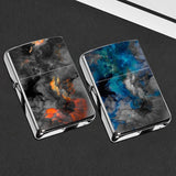Retro Marble kerosene Lighter fire lighter Simple cigarette lighter Christmas Gift for men(Not Contain Kerosene)