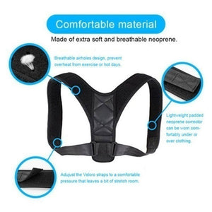 Health Care Correction Strap Adjustable Back Pain Belt Brace Shoulder Waist Trimmer Exercise Wrap Abdominal