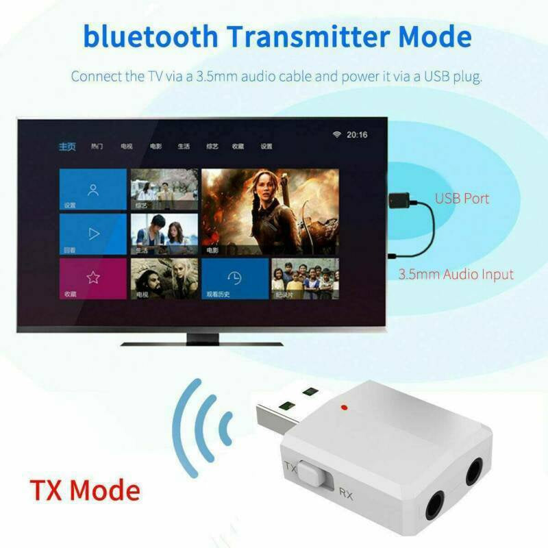 USB Bluetooth 5.0 Wireless Receiver Transmitter USB Adapter For TV/PC/Car