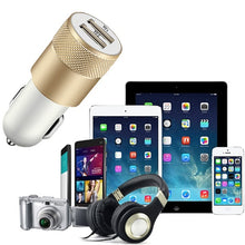 Load image into Gallery viewer, 1/2/5PCS 2-Ports Dual Double USB Universal Car Charger Metalic Alloy Shell for iPhone/iPad/iPod/Samsung