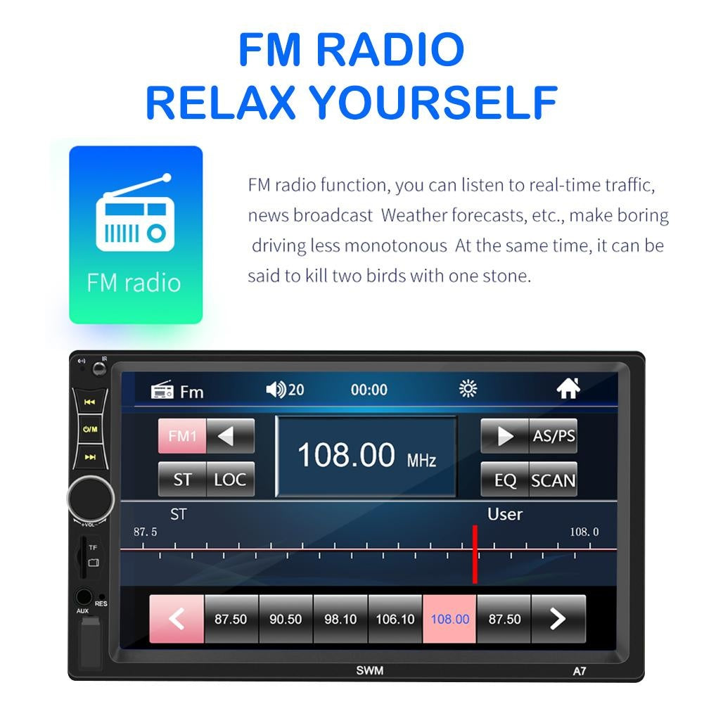 SWM 9218S Upgraded 2 DIN Android 9.1/SWM A7 Car Stereo GPS Bluetooth Radio Head Unit