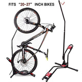 Bike Stand Vertical Bike Rack,Upright Bicycle Floor Stand,Free Standing Adjustable Bike Garage Rack for Indoor Mountain/Road Bike Storage,Saving Space