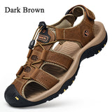 New Hollow-out Wading Shoes Men Sandals Hiking Shoes Summer Casual Beach Sandals Plus Size