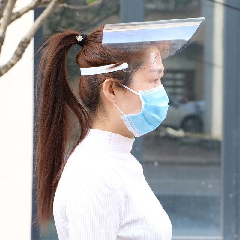 Anti-fog Protective Mask HD Transparent Full Face Splash-proof Mask Fume-proof Face Cap