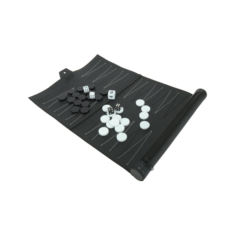 PU Leather Backgammon Board Game Chess Acrylic Chess Playing Games