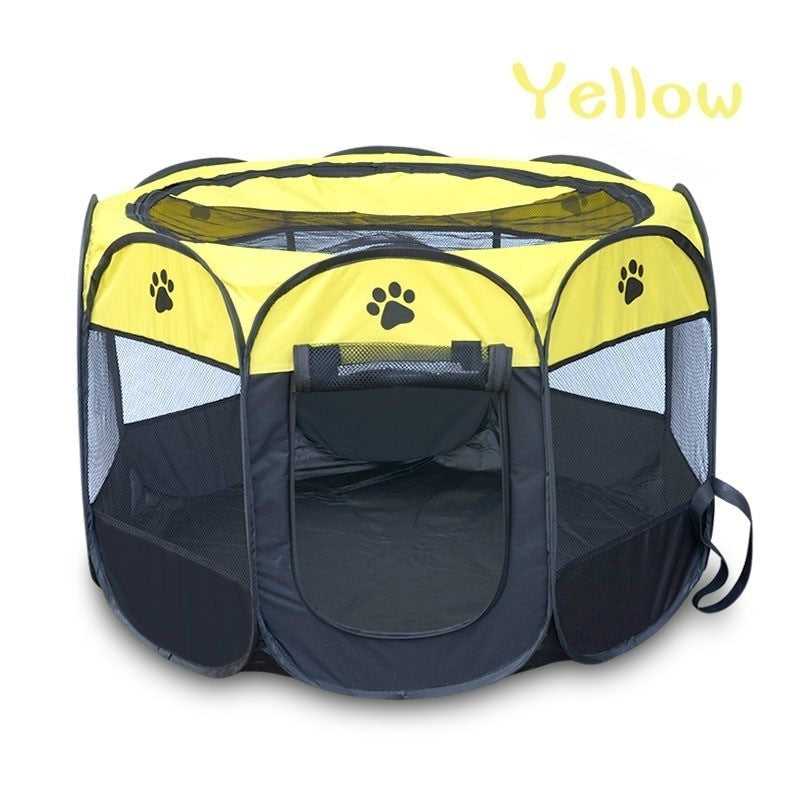 Cover Capacity Pet Fence Dog Kennel Play Pen Puppy Soft Playpen Tent Exercise Run Cage Folding Crate Cat Dog House Pet Cages