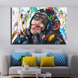 Graffiti Cute Monkey Canvas Paintings Colorful Printed Poster and Prints Painting Wall Pictures For Living Room Home Decorations