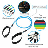 11 Pcs Natural Rubber Latex Fitness Tubes Resistance Bands Workout Exercise Yago Sport Gym Muscle Training ElasticTraining Rope Pull String