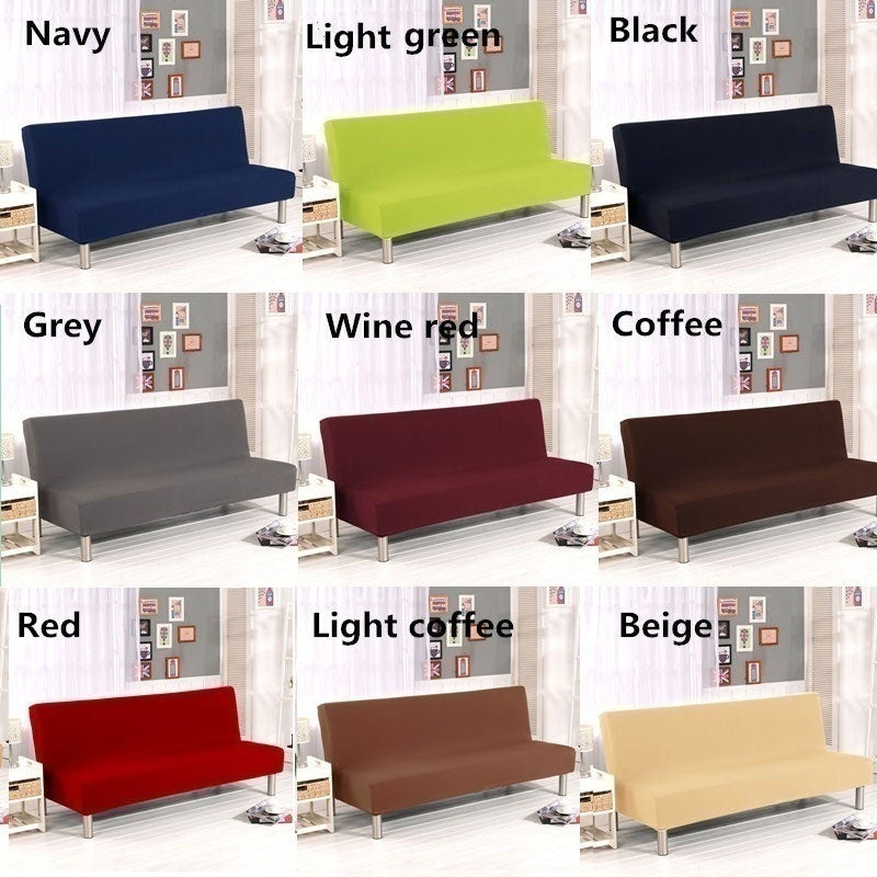 9 Colors Armless Solid Color Sofa Cover Fashion Protector Couch Cover Slipcover Slipcovers Home Decor Multi Color Sofa Covers S/L