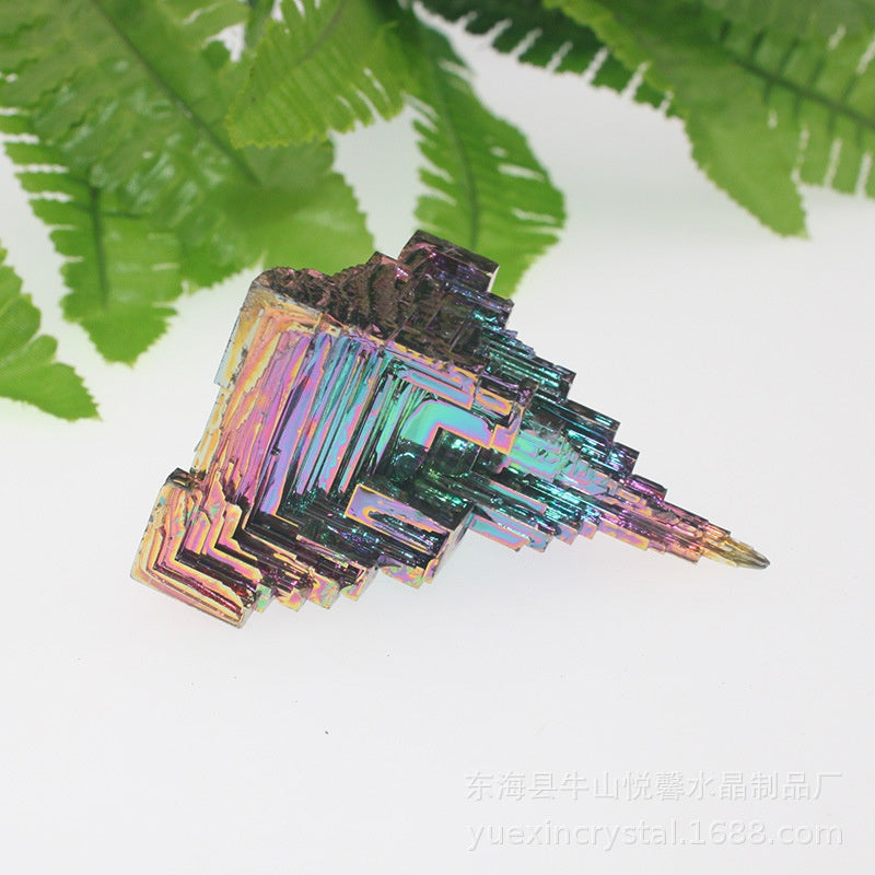 1Pc Natural Rainbow Crystal Healing Metal Stone Rough Mineral Specimen