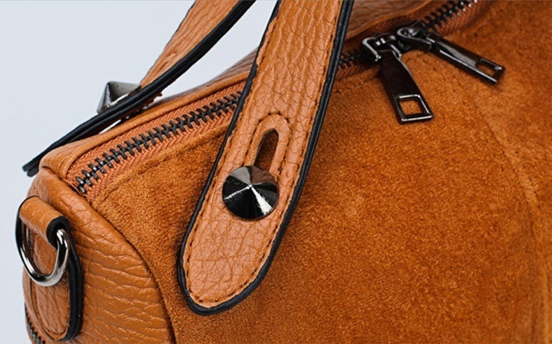 Lady Purses and Handbags Rivet Crossbody Purse Hobo Bag Leather Studded Tote Top Handle Satchel Shoulder Bag