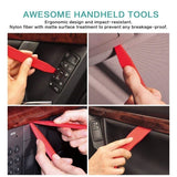 4/8/12/19pcs Pry Disassembly Tool Red Auto Car Audio Dash Tirm Panel Installer Dashboard Removal Opening Repair Tools Kit Interior Door Modeling Clip Set
