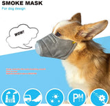 1/3Pcs Pack Pet Dog Soft Face Cotton Mouth Mask Pet Respiratory PM2.5 Breathable Soft Dog Muzzle with Air Mesh for Dogs