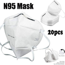 Load image into Gallery viewer, N95 Dust Mask Respirator,10/20 Pcs Vertical Folding Dust Mask FFP2 Antiviral Anti Infection Particulate Respirator KF94 (Certified N95 Masks)