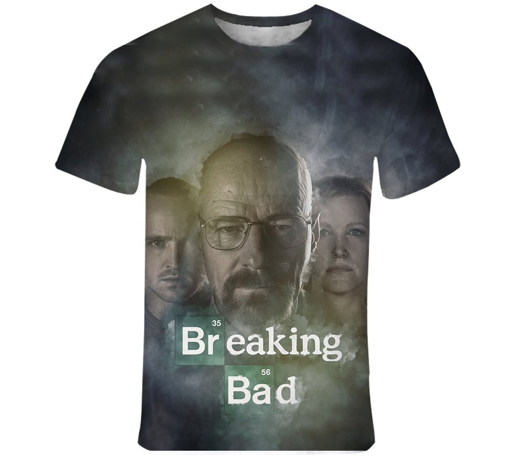 2020 Breaking Bad Heisenberg 3D Printed men t shirt Harajuku Fashion Short sleeve shirt summer streetwear Casual Unisex tshirt tops